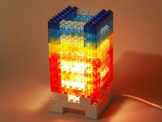 Lego upcycling ideas what to do with those extra lego for Mood light designs