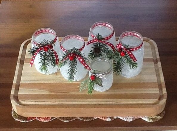 Icy Candle Jars Decorating Candle Jars Christmas Jars Xmas Crafts