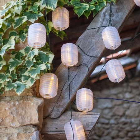 Buy 10 warm white led solar chinese lantern fairy lights from our solar lights range at tesco direct