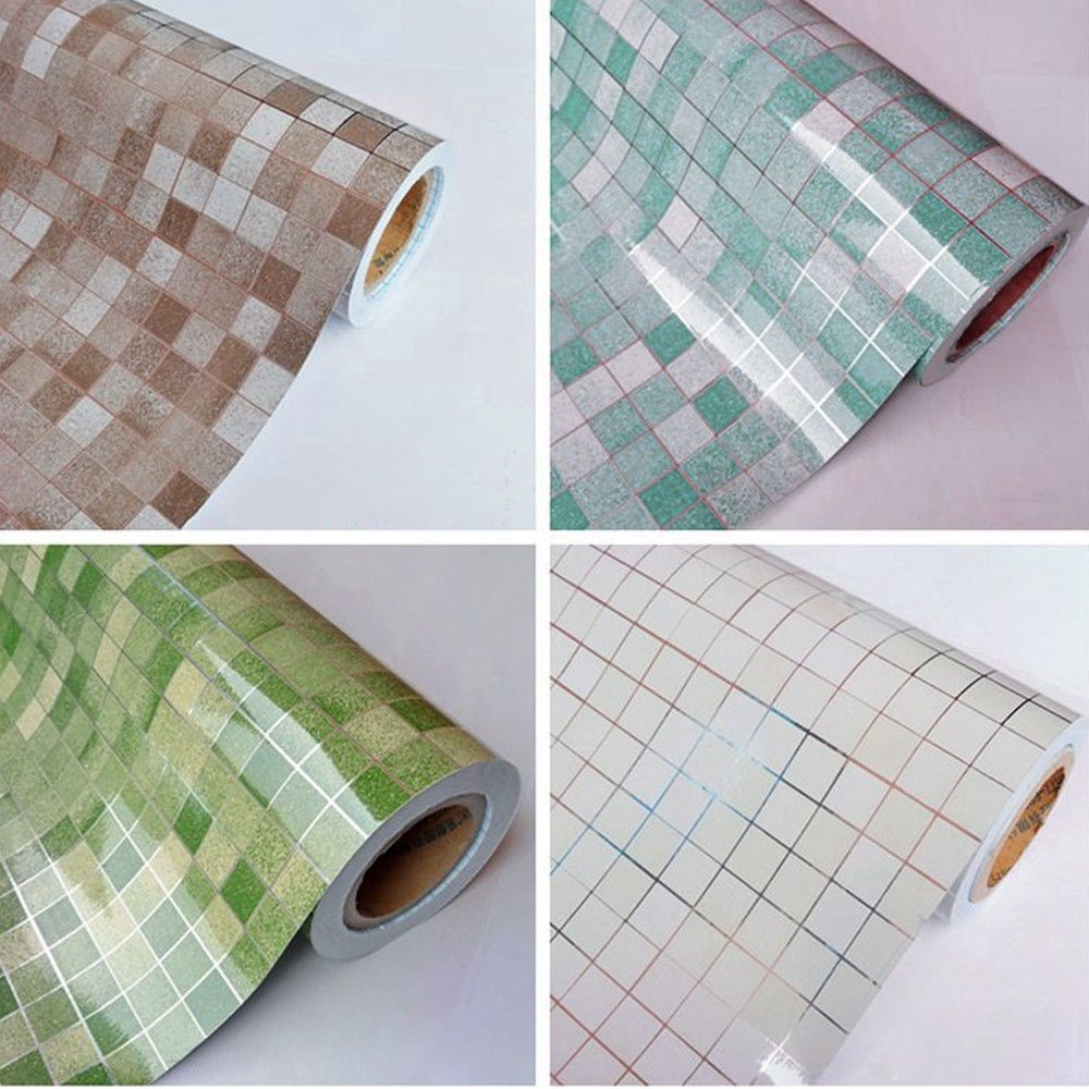 Mosaic Aluminum Foil Waterproof Anti-Oil Kitchen Tile Wall Sticker ...