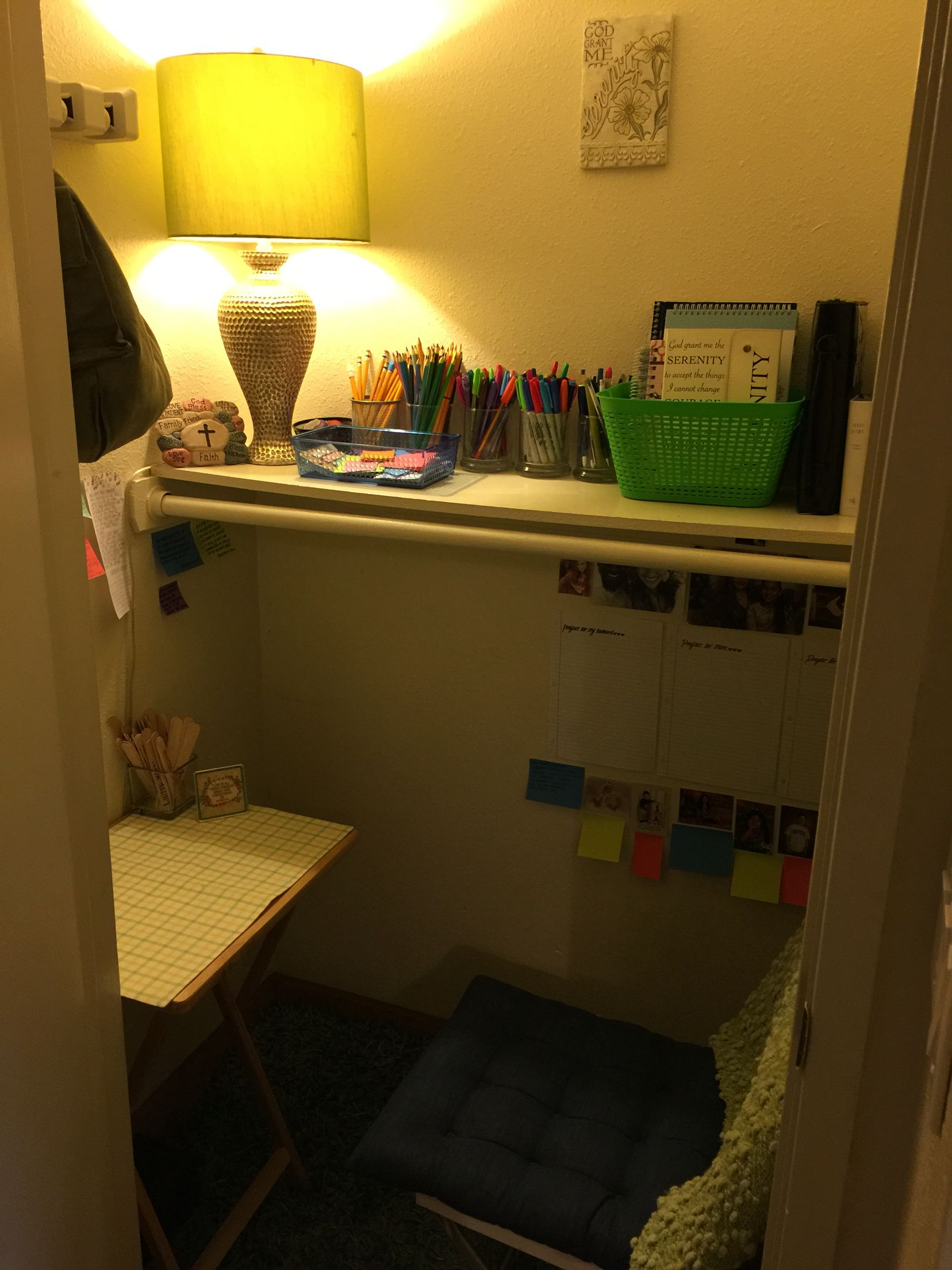 Captivating The Start Of A Prayer Closet/war Room! Need To Fill Blank Notes With Prayers !!