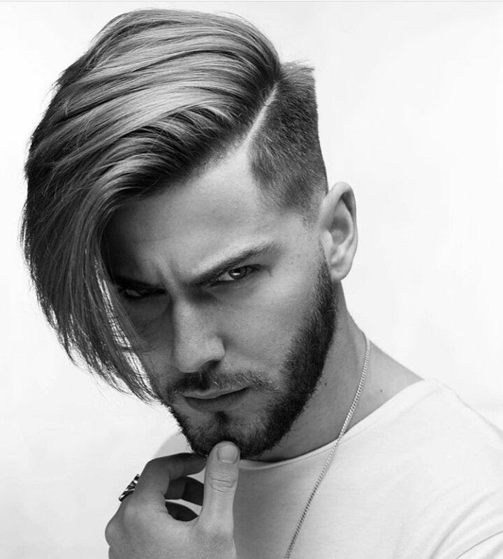 Marvelous Side Swept Undercut With Long Fringe And Razor Part