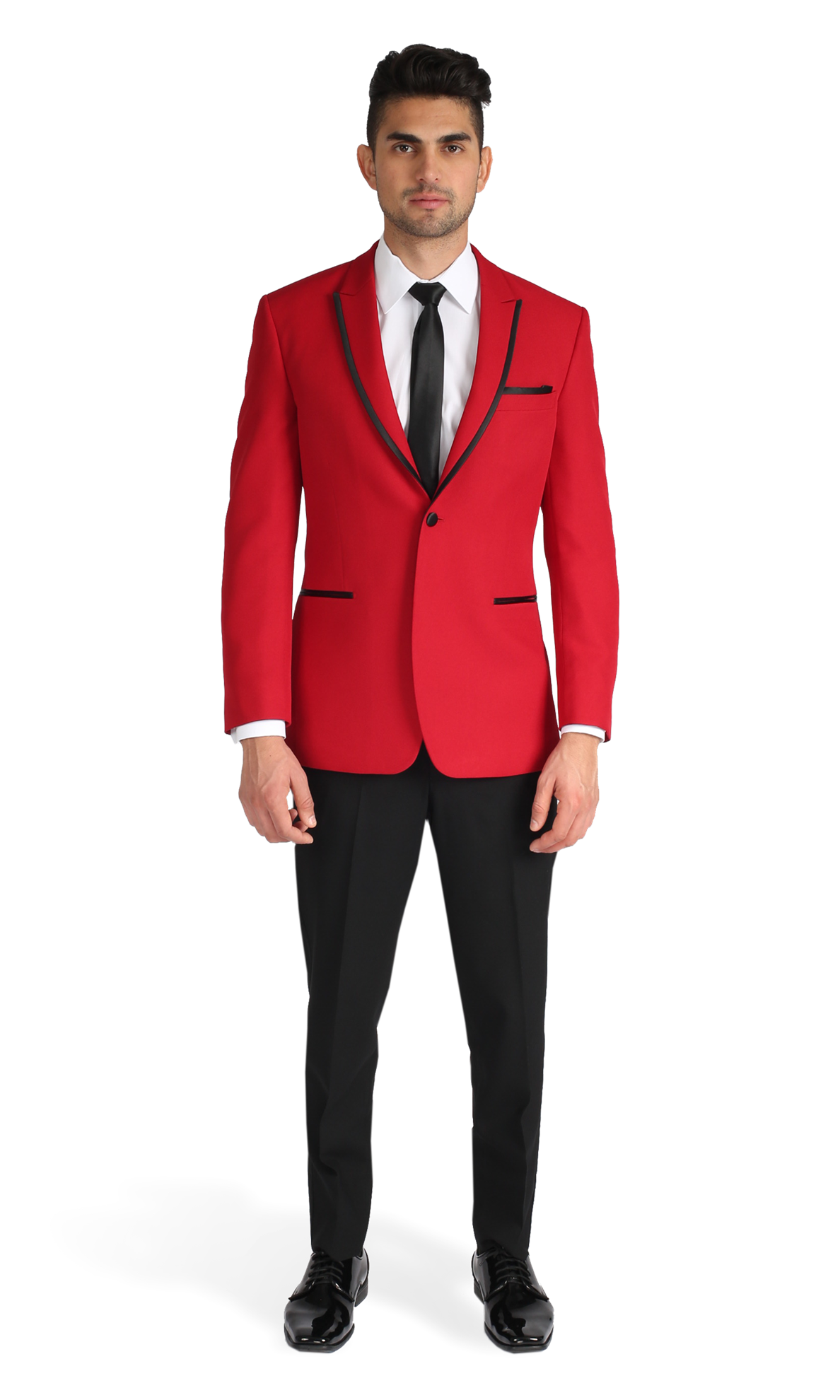 6700638ca4d0 Red Peak Lapel Tuxedo | Colored Suits and Tuxedos in 2019 | Tuxedo ...