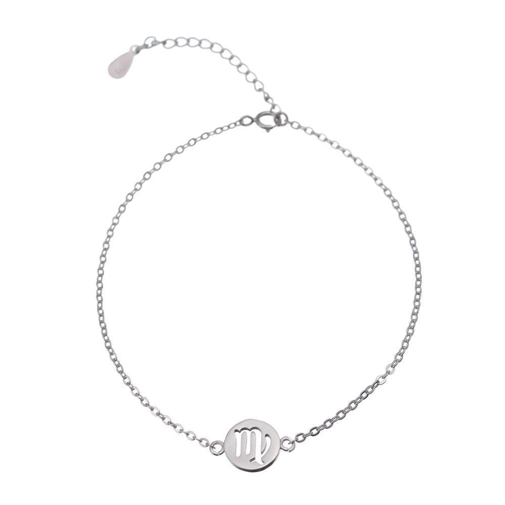 925 Silver Virgo Jewelry Bracelets with Extend Chain Party Jewelry Charm Bracelet B059