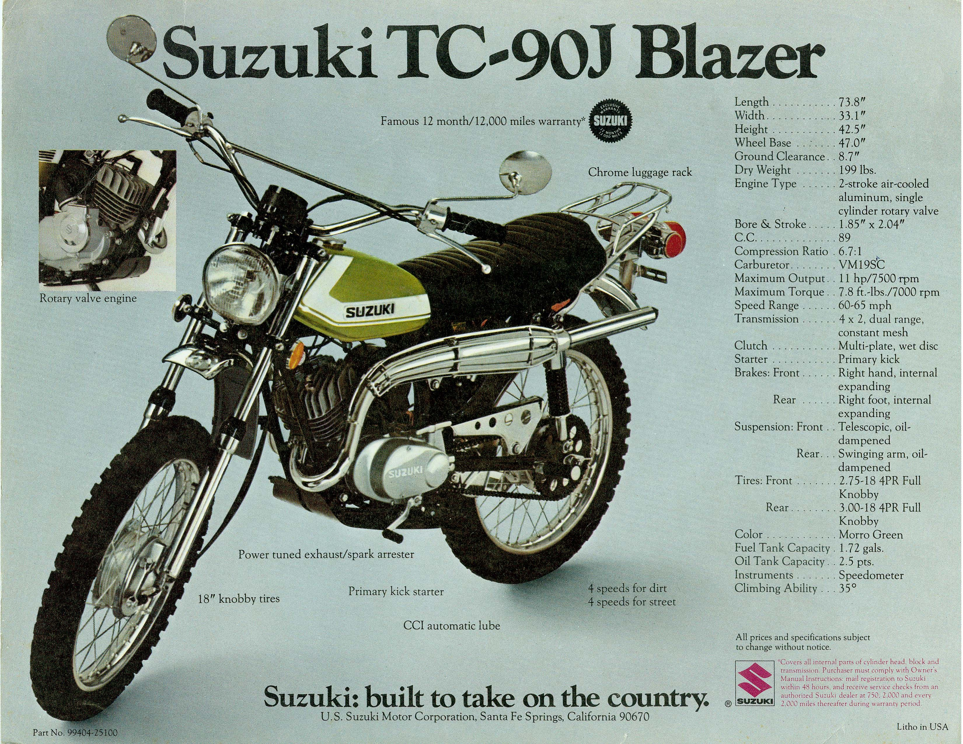 TC-90 Suzuki. Raced one with a plastic tank and fenders. I would kick it  into high range on the long straights. :-)
