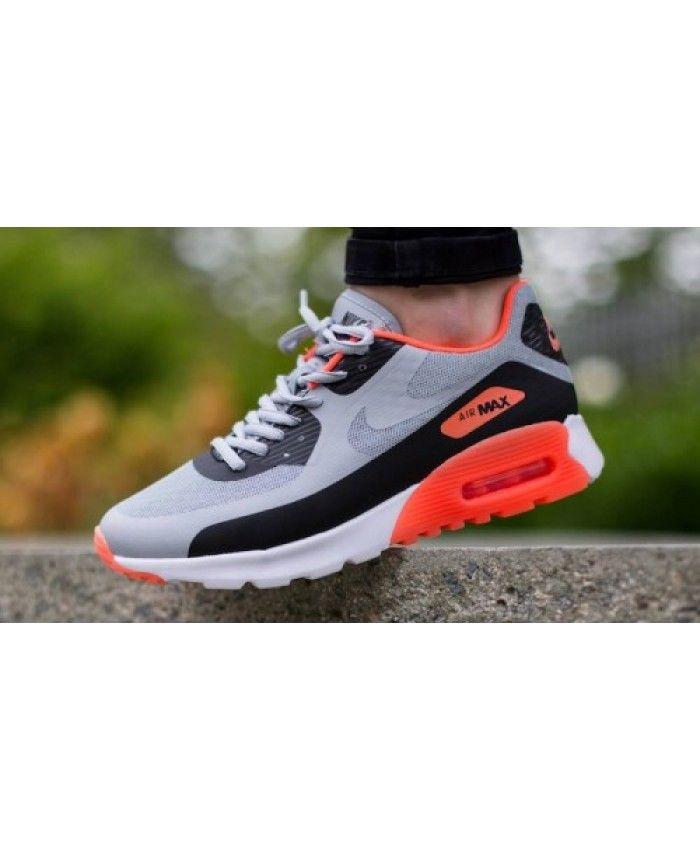 Nike Air Max 90 Ultra Br Wolf Grey Hyper Orange Trainer