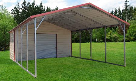 Product AFrame Utility Carport Stallion Buildings