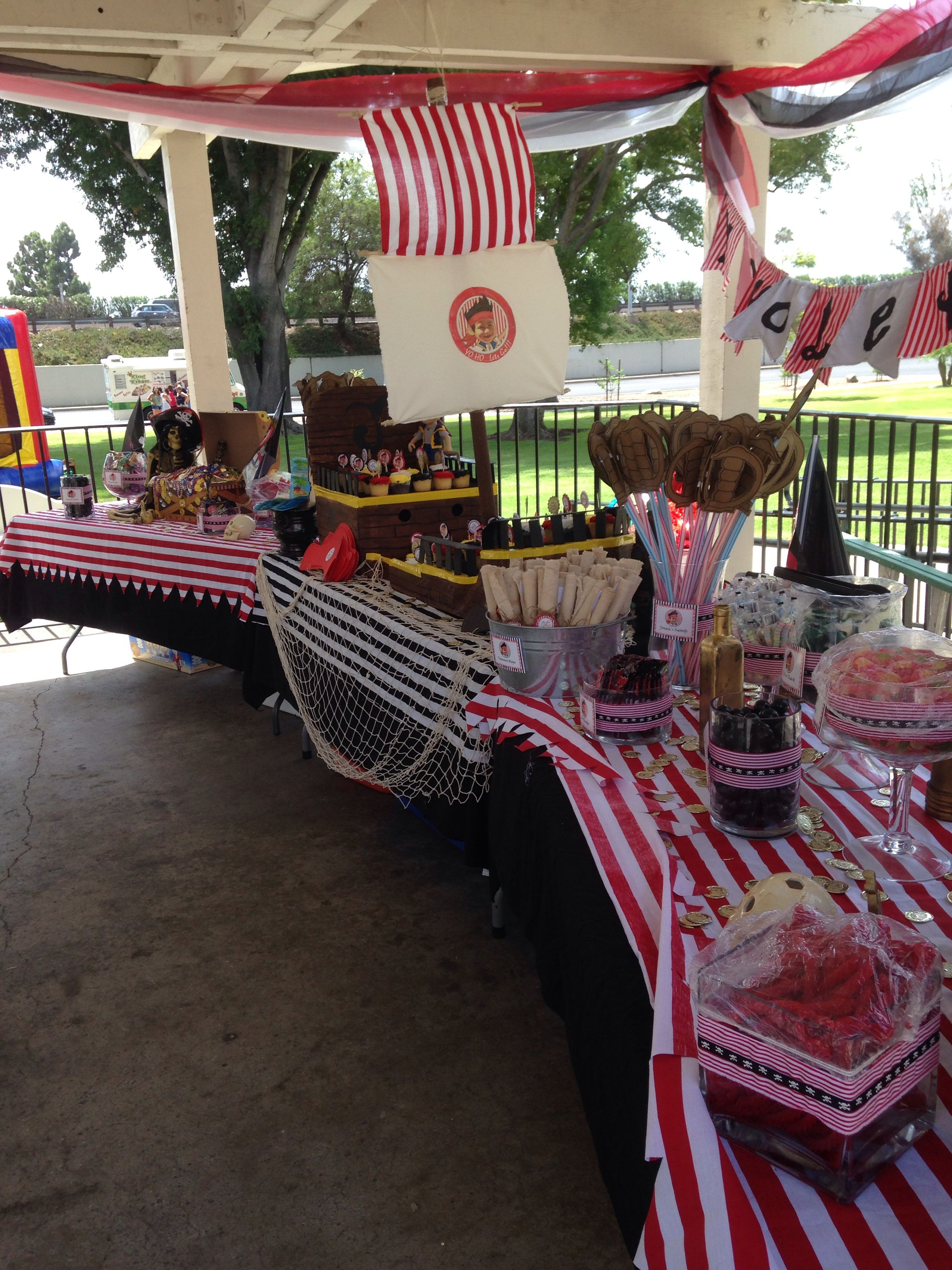 Pirate Candy Bar And Cupcake Display Ideas Inspired By Jake The Fleece Combie Blue Grey Neverland Pirates Full