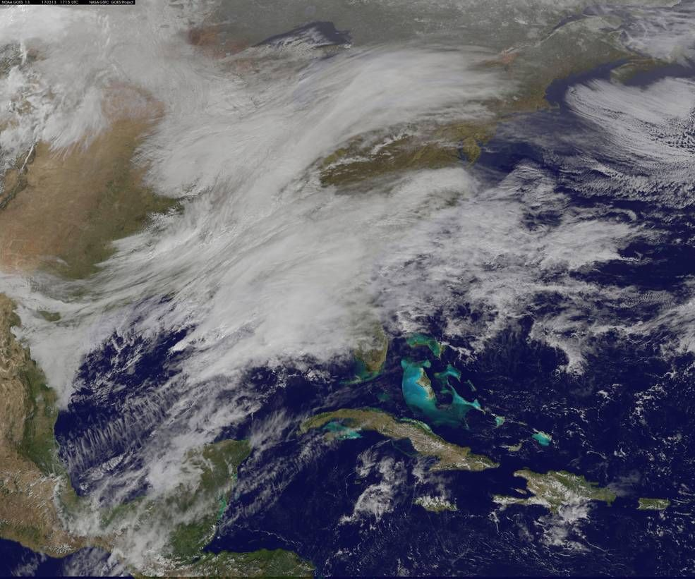 Noaa Satellites See Winter Storm Madness March To The East East Coast Space Photos Winter Storm