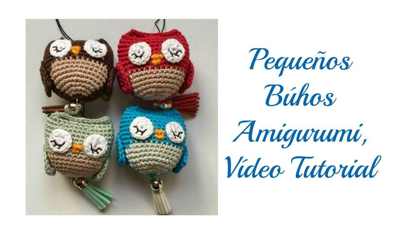 Pequeño búho amigurumi, Vídeo tutorial   muñecos   Pinterest ...