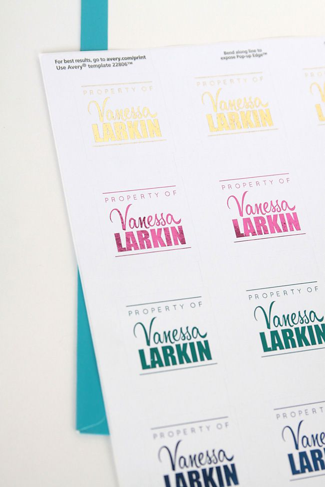 print name labels for your kids school supplies and other stuff so they can keep track