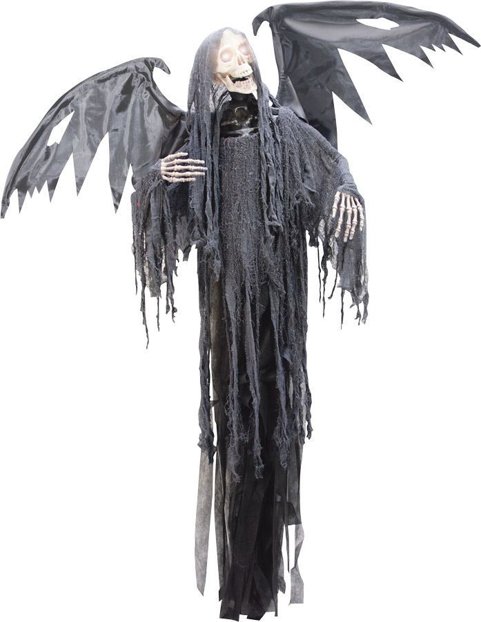 HANGING REAPER W ANIMATED WING ANIMATED HALLOWEEN PROP Penny