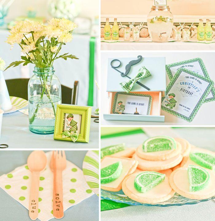 Sherlock Holmes Themed Birthday Party {Ideas, Decor, Planning, Cake}