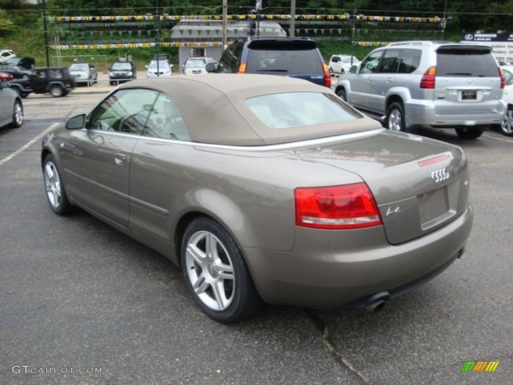 2007 a4 2 0t quattro cabriolet alpaka beige metallic beige photo 2 audi a4 cabrio. Black Bedroom Furniture Sets. Home Design Ideas