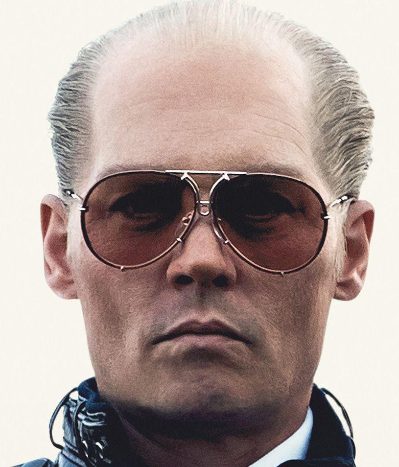 e6ad3fccd13 Johnny Depp wears Porsche Design by CARRERA 5623 sunglasses in the movie  Black Mass (2015).