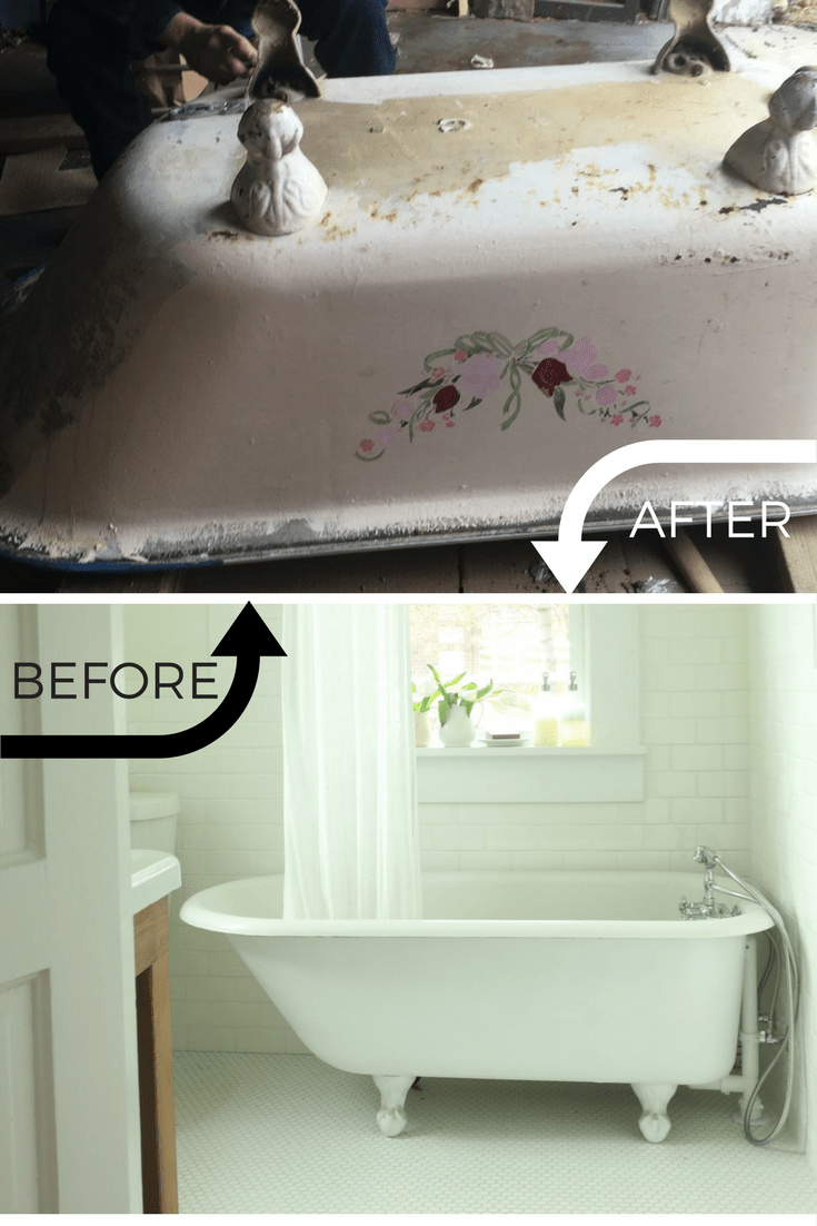 Refinishing A Clawfoot Tub Before And After Clawfoot Tub