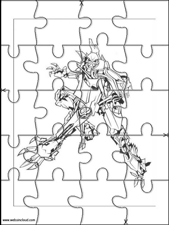 Printable jigsaw puzzles to cut out for kids Transformers 3 Coloring ...