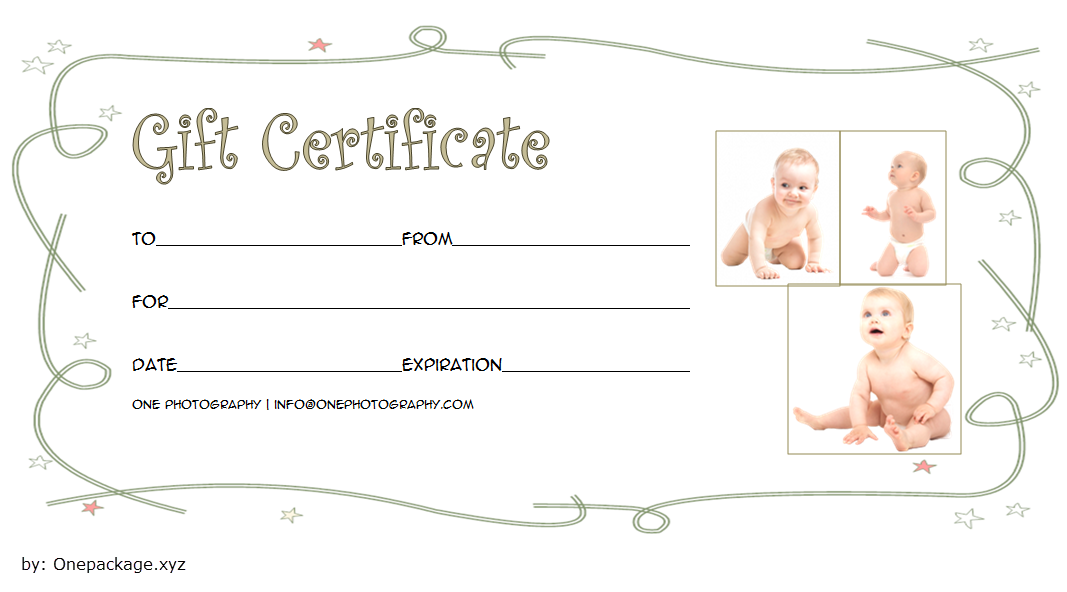 Newborn Photography Gift Certificate Template 2020 Version 1 Photography Gift Certificate Template Photography Gift Certificate Baby Photography Gift