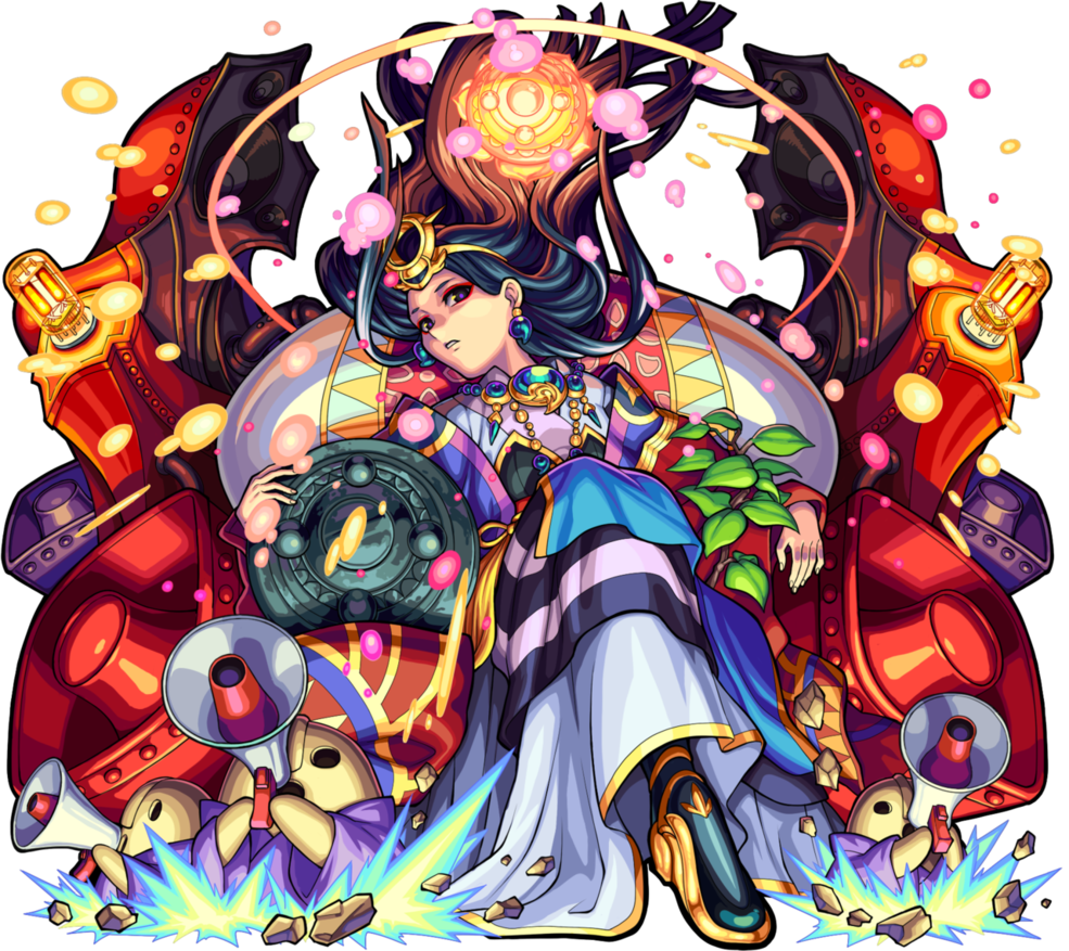 Himiko Puzzles and dragons, Monster strike, Conceptual