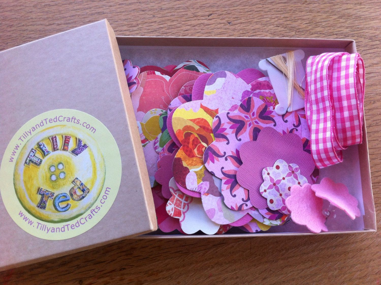 Paper flower garland makeyourown kit  via Etsy  Healthy