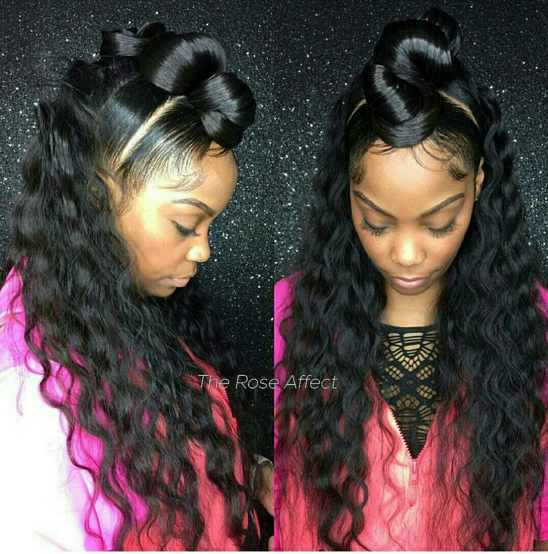 Weave extensions ponytail