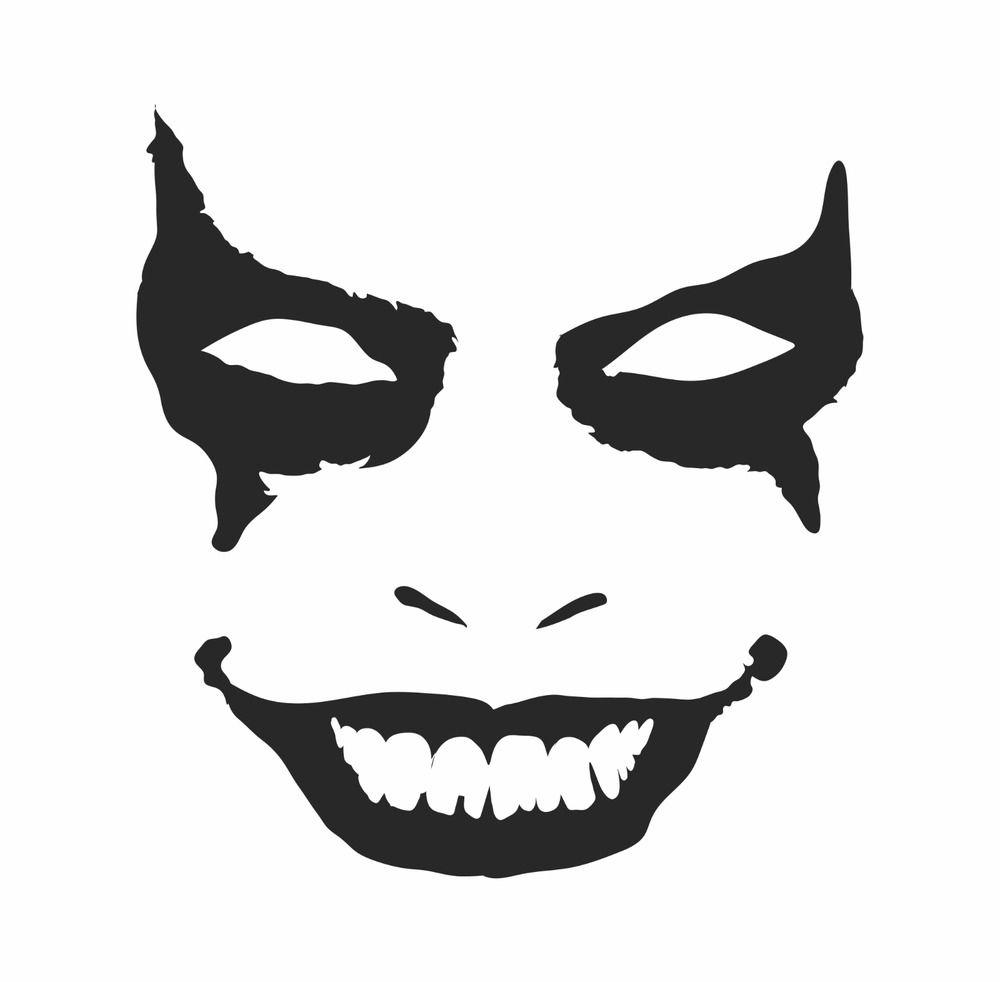 Joker Face Vinyl Decal Bumper Sticker Car Suv Window Door Clown Gotham For Jeep 3mavery Car Bumper Stickers Vinyl Decals Joker Face [ 982 x 1000 Pixel ]