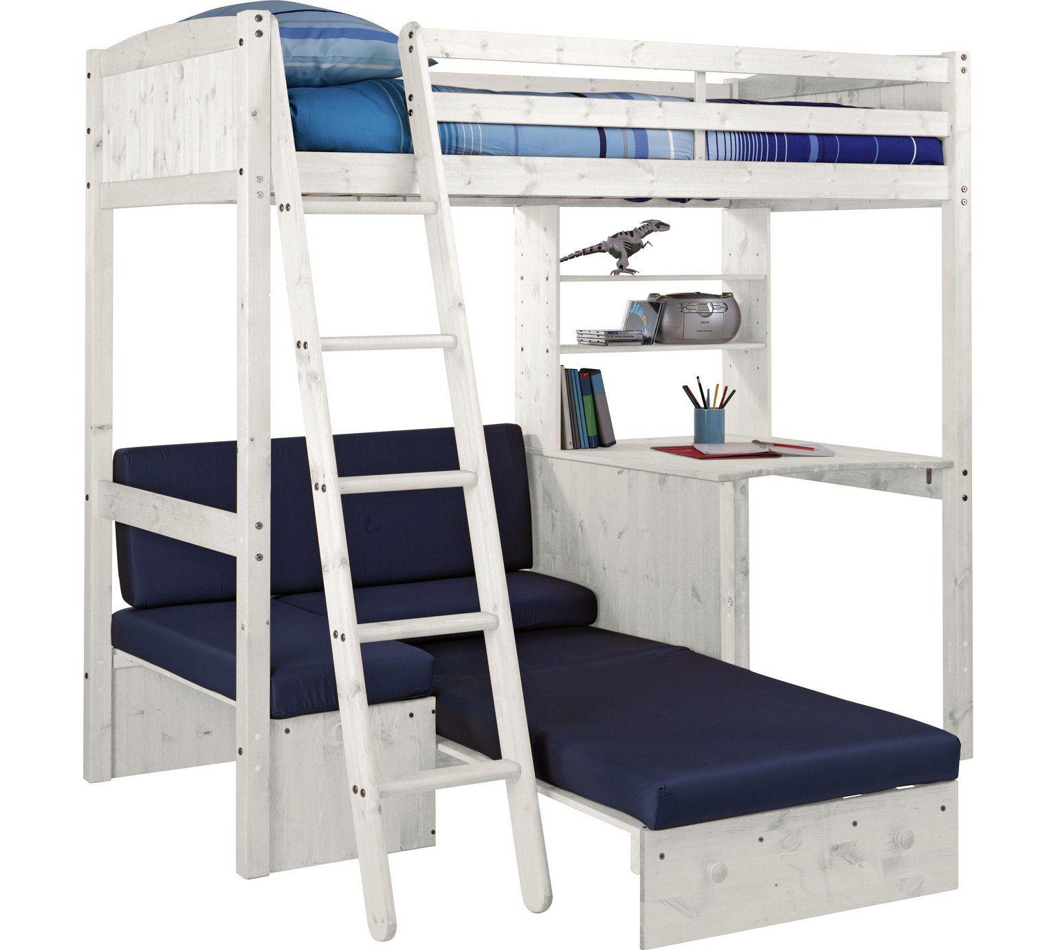 Buy HOME Classic High Sleeper Bed Frame & Blue Sofa Bed