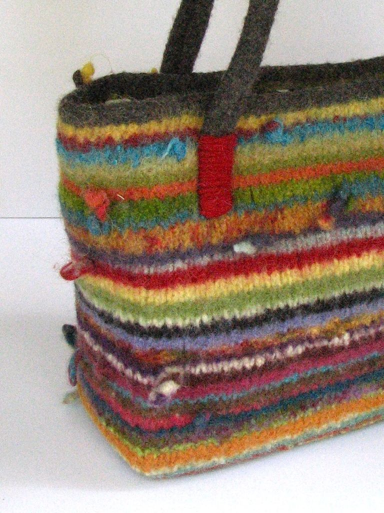 Joseph Bag | Knit n Stitch | Knitted bags, Recycled sweaters, Bags