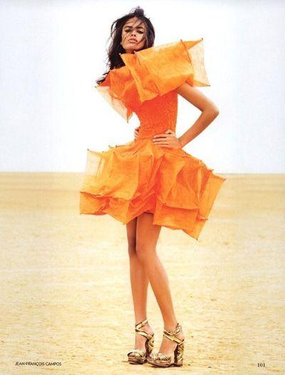 over the top orange....