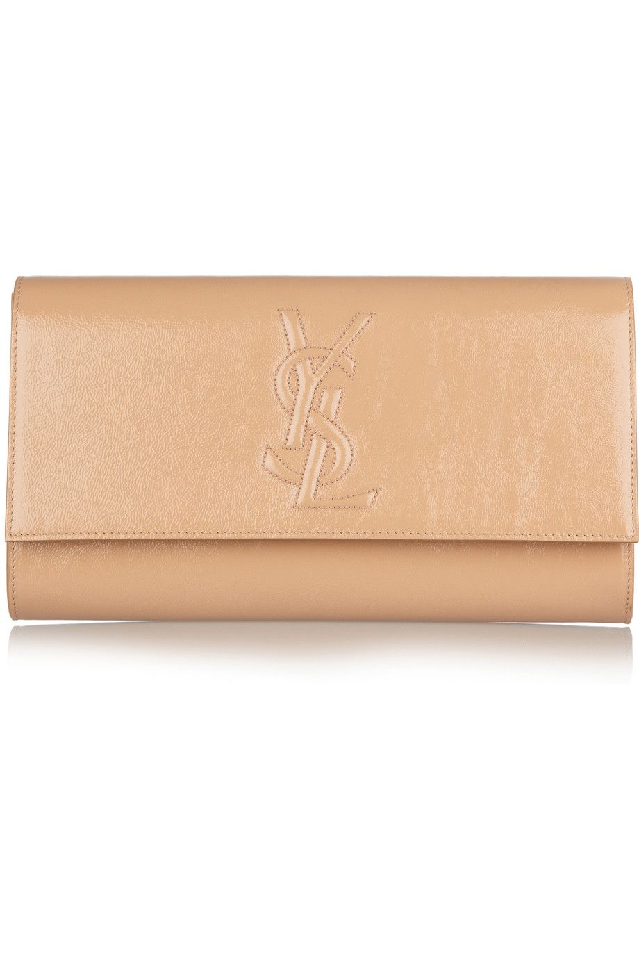 1b734367733 YSL Belle Du Jour clutch large in nude patent leather... A friend for my  large black patent :)