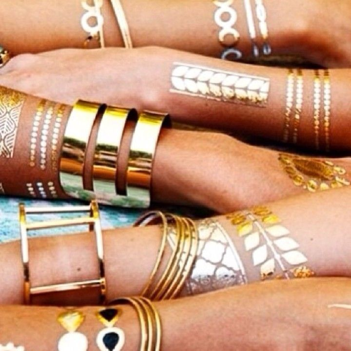 Sunless Beauty Gold Flash Tattoos From Sunless Beauty