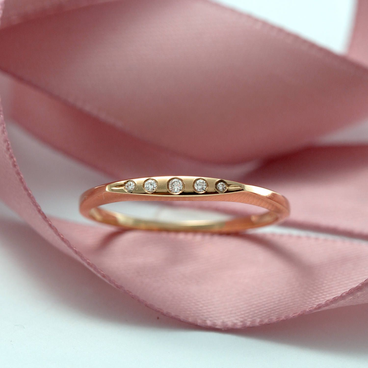 p band everyday wedding anniversary pinky rings fullxfull jewelry recycled size pink gold rose thin ring stacking il