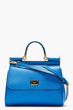 Dolce & Gabbana Royal Blue Leather Miss Sicily Small Shoulder Bag on shopstyle.com