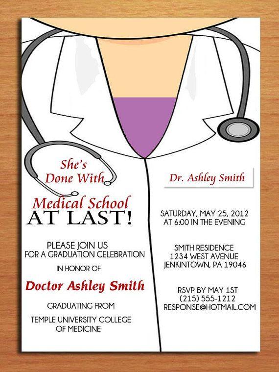 Lab Coat Graduation Invitation Medical Graduation Invite Etsy Graduation Party Invitations Templates Graduation Party Invitations Graduation Invitations