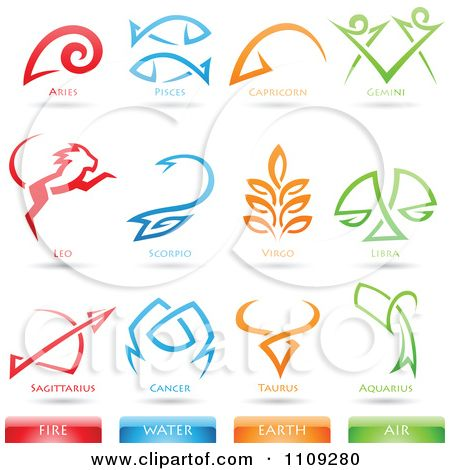 earth element symbols | Clipart Astrology Star Signs And Fire ...