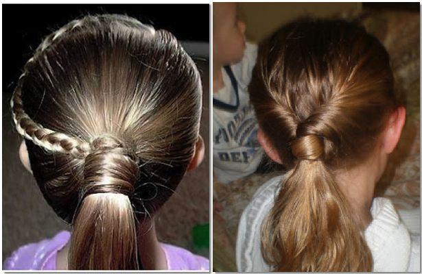 Resultado de imagen para peinados faciles para niña con flores