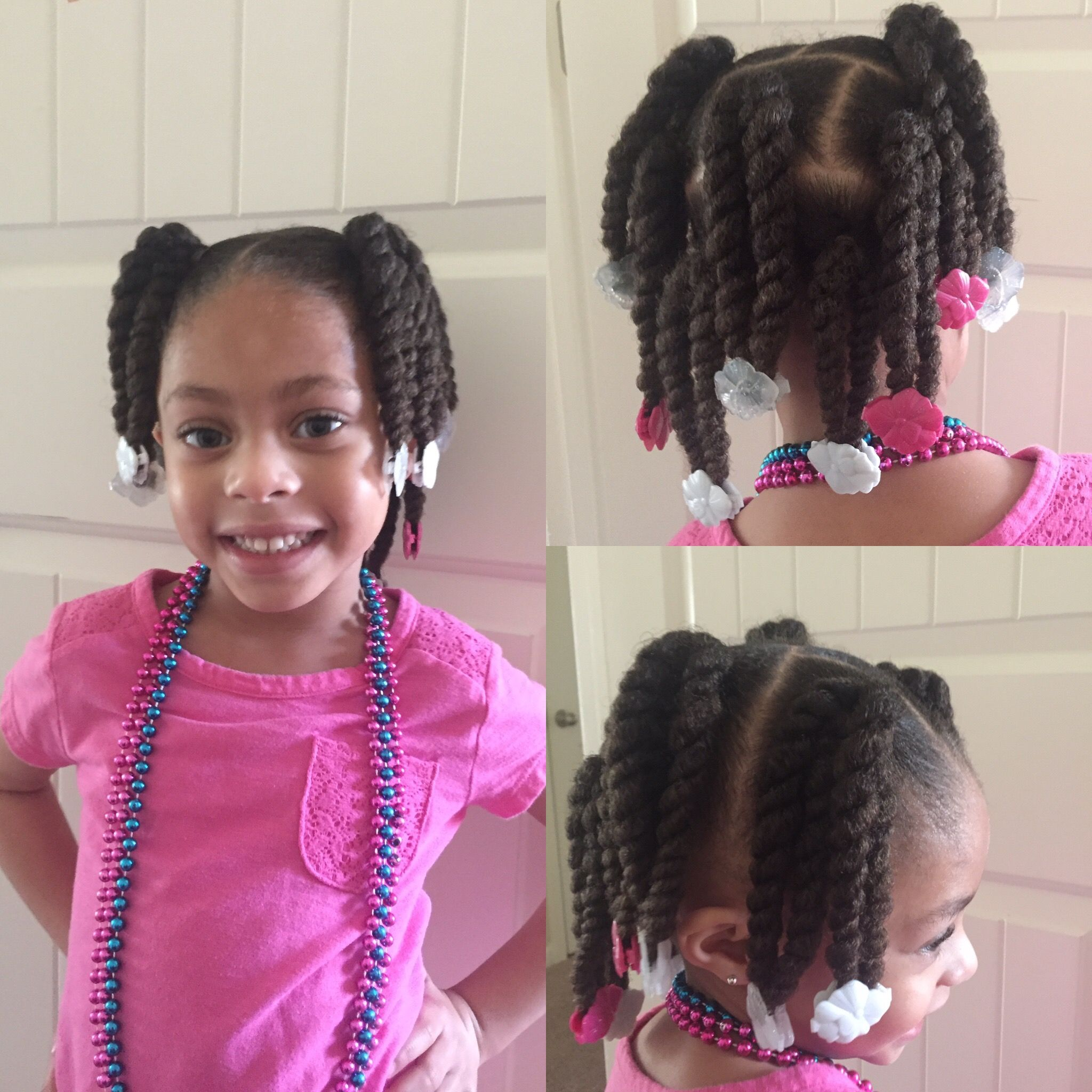 beautiful bella in two-strand twists and gabby bows! | girl
