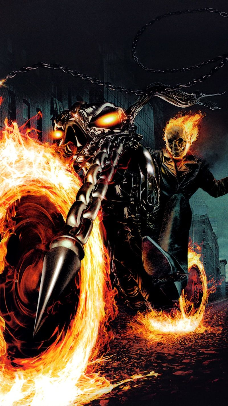 24X36 GHOST RIDER MOVIE POSTER CHAINS NICOLAS CAGE