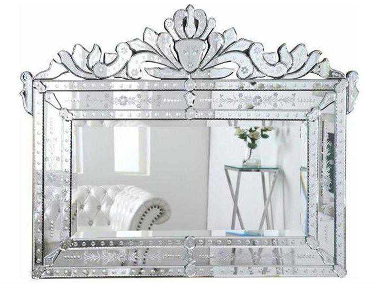 Elegant Lighting Venetian 59 W X 45 H Clear Wall Mirror With