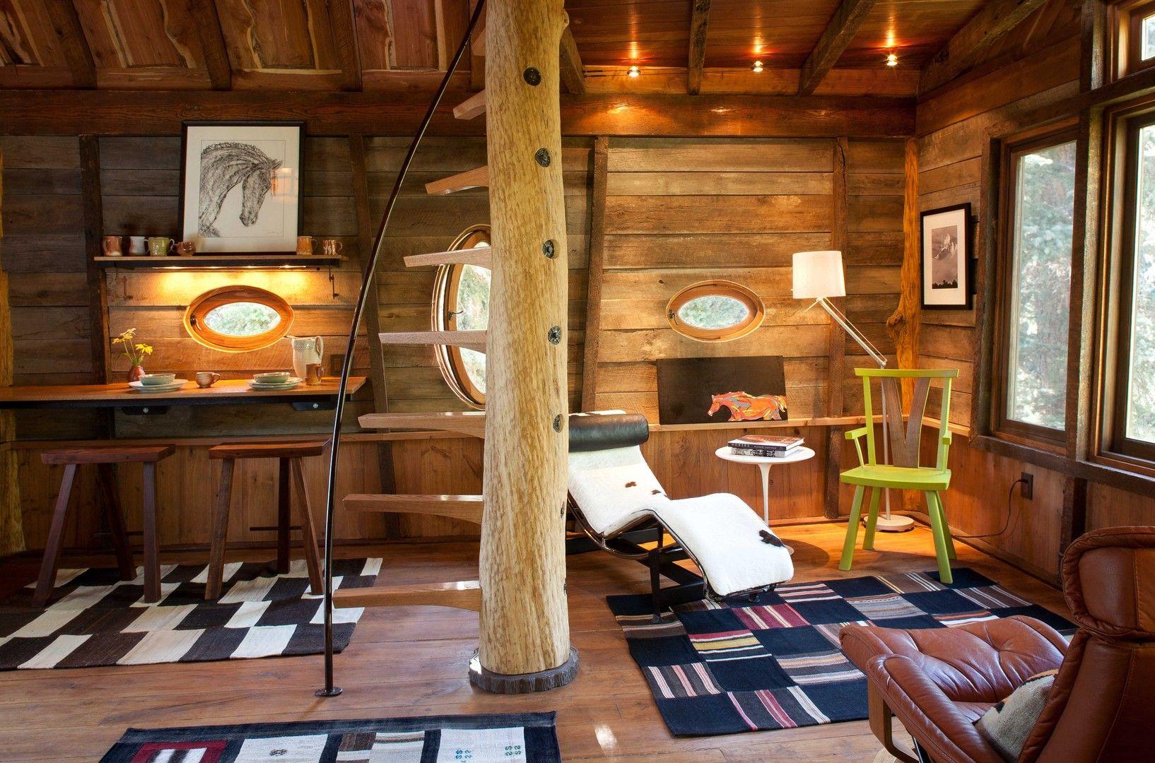 Cabanes dans les arbres interieur recherche google treehouse - Arbre deco interieur ...