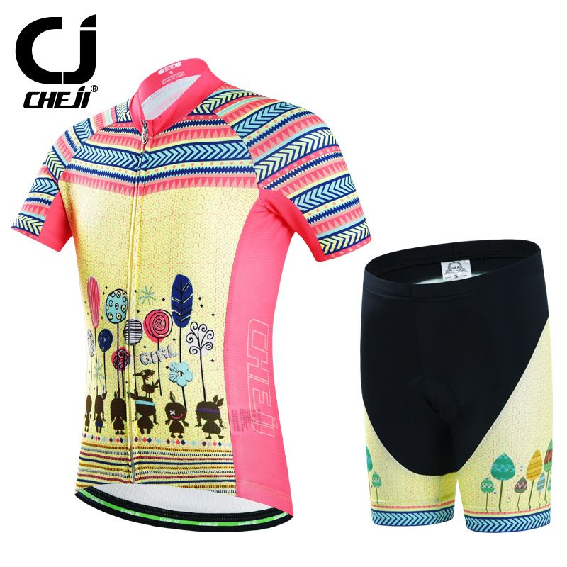 Boys Cycling Shorts Pink CHEJI Children Kids Bike Shorts Padded Girls Yellow