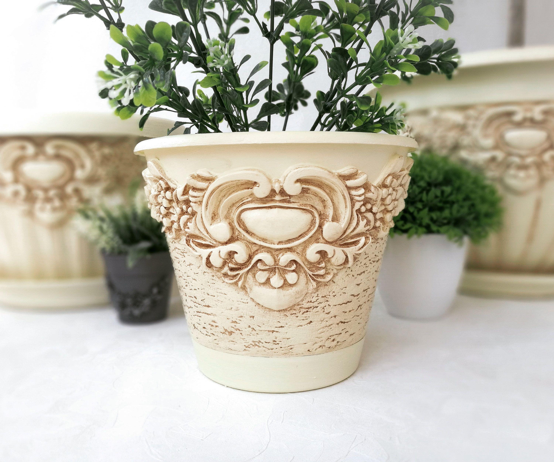 Flower Pot Vintage Planter House Plant Farmhouse Decor In 2020 Flower Pots Vintage Flower Pots Vintage Planters