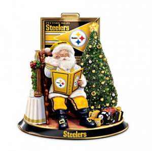 Pittsburgh Steelers Night Before Christmas Talking Santa  0f806a8b1