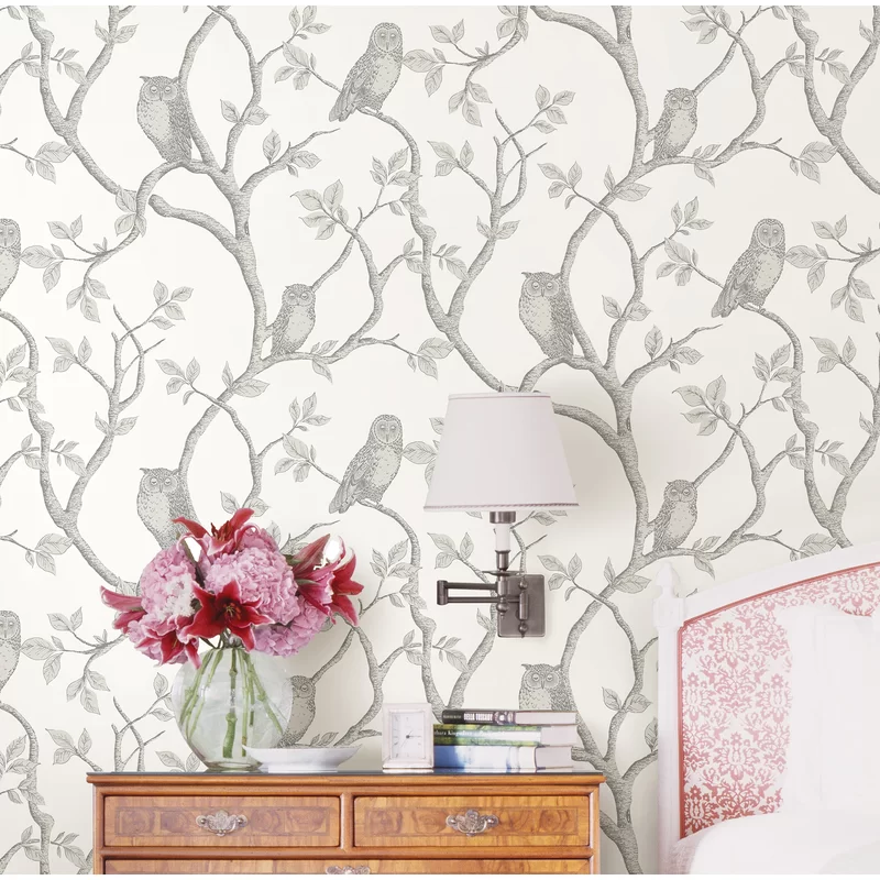 Essentials 33 X 20 5 Enchanted Forest Owl And Tree Wallpaper Roll Reviews Joss Main Tree Wallpaper Wallpaper Roll Brick Wallpaper