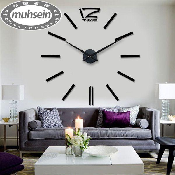 Free Shipping Fashion 3d Big Size Wall Clock Mirror Sticker Diy Wall Clocks Home Decoration W Wall Clocks Living Room Large Wall Clock Decor Wall Clock Sticker