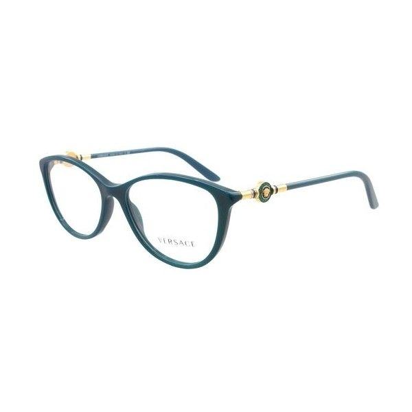 26df1641bf3 Versace VE 3175 5058 Petroleum Blue Eyeglasses ( 200) ❤ liked on Polyvore  featuring accessories