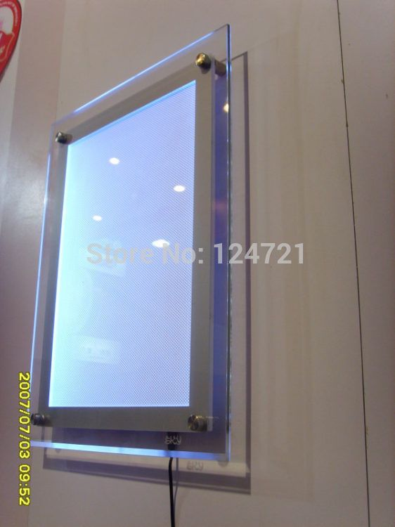 how to build led box behind mirror