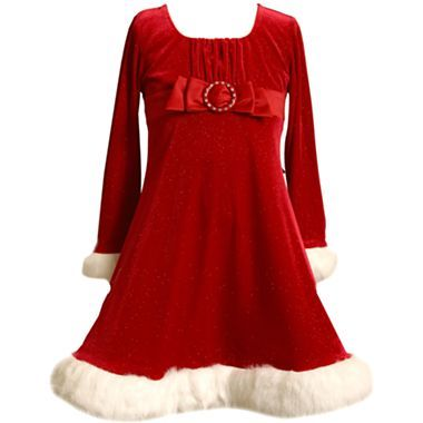 8420325cb8243 Bonnie Jean® Velvet Santa Dress - Girls - jcpenney Shop Valley West Mall  for the Holidays!