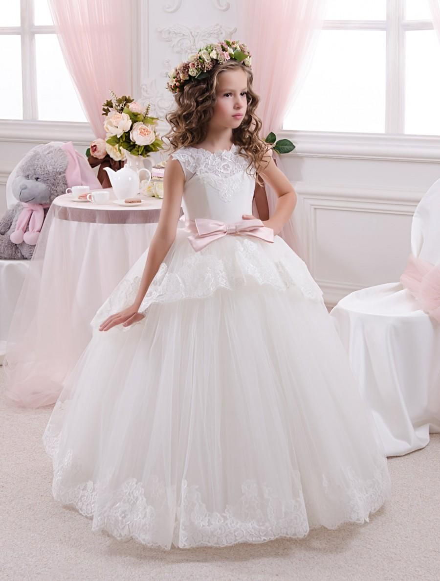 25e7fa7b893 Gorgeous ivory flower girl dress with multilayered skirt