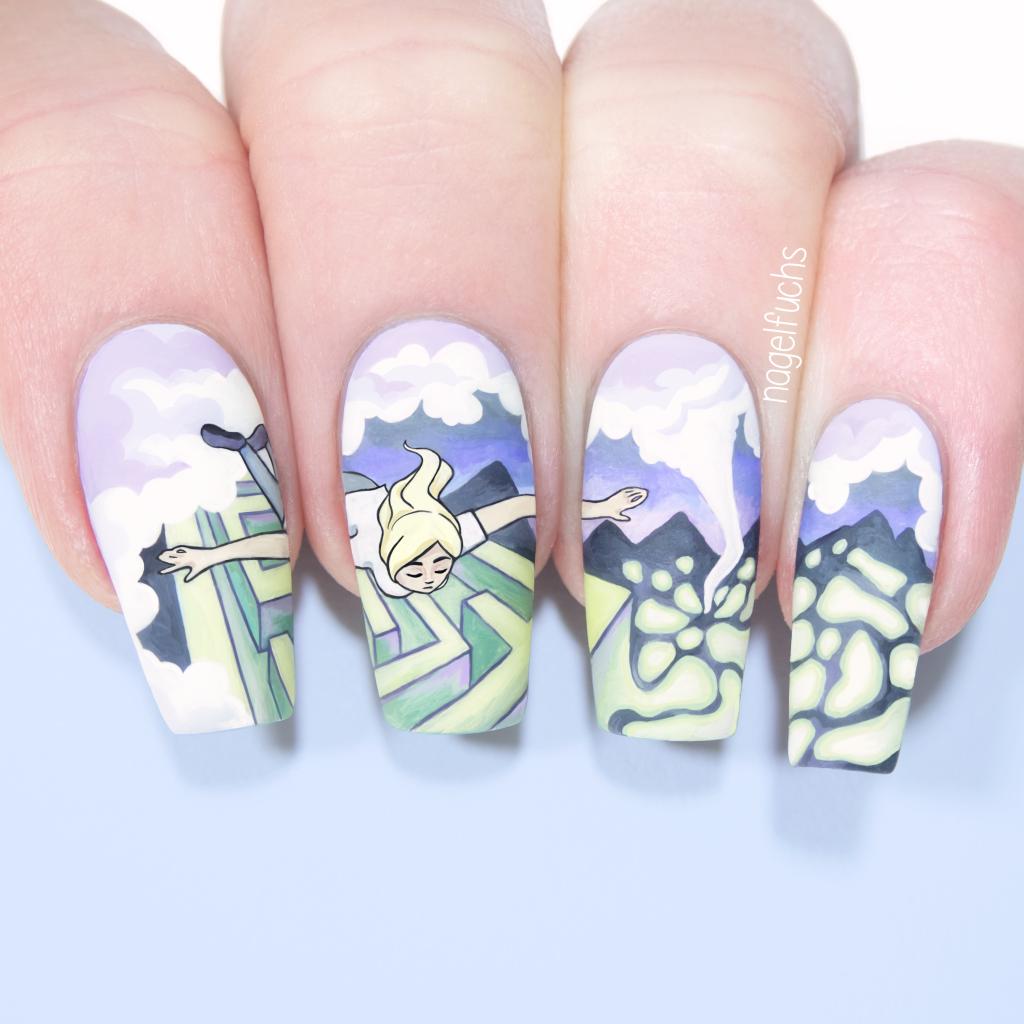 Billie Eilish X Adobe Contest Nails By Nagelfuchs Billie Eilish Nails Spider Tattoo